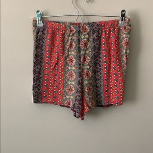 Patterned High Waisted Shorts